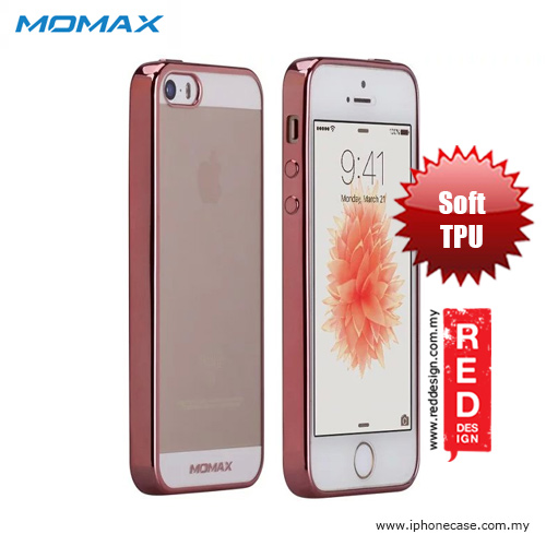 the latest 249f5 cc141 Momax Splendor Series Soft TPU Case for iPhone SE iPhone 5 iPhone 5S - Rose  Gold
